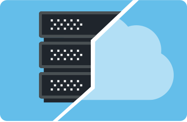 hybrid cloud with file server diagram